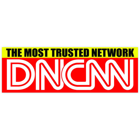 "DNCNN Most Trusted Network Fake News CNN DNC Democrat Party sticker decal (9""x3"")"