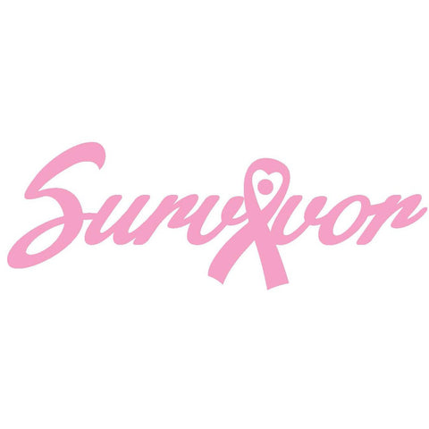 Survivor Woman Strong Breast Cancer bumper sticker decal