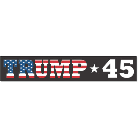 "Trump 45 USA American President 2016 sticker decal (11""x2"")"