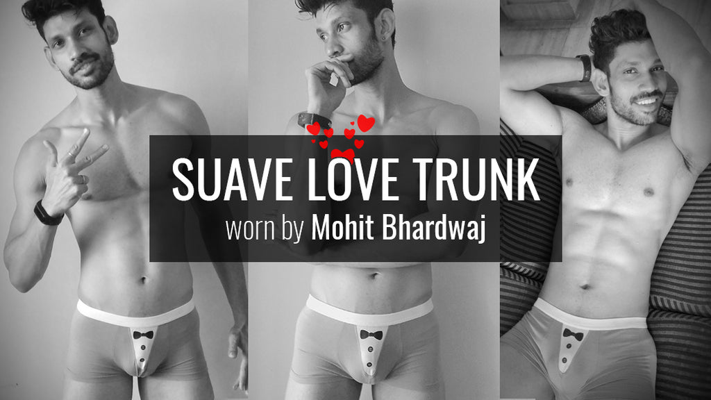 Sauve Love Male Designer Trunks worn by Mohit Bhardwaj