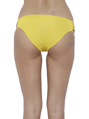 BASIICS Female Yellow Erótico Exotic Bikini Panty