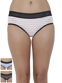 Frio Hot Briefs Panty (Combo Pack of 3)