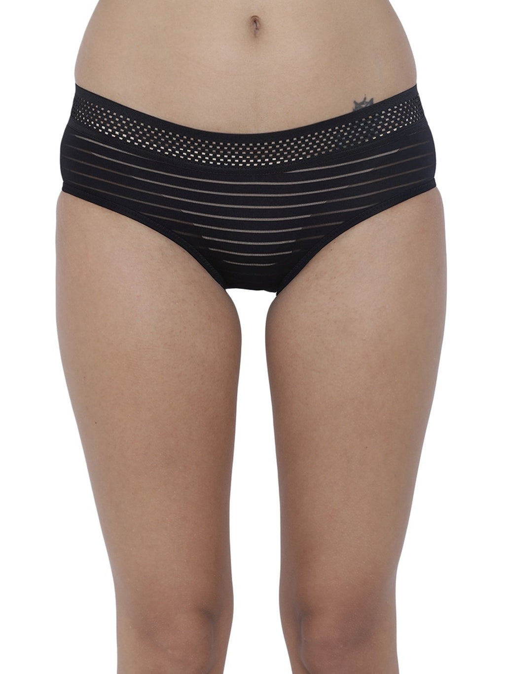 BASIICS Female Black Frio Hot Brief Panty