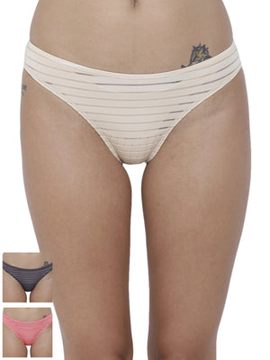 Travieso Naughty Briefs Panty (Combo Pack of 3)
