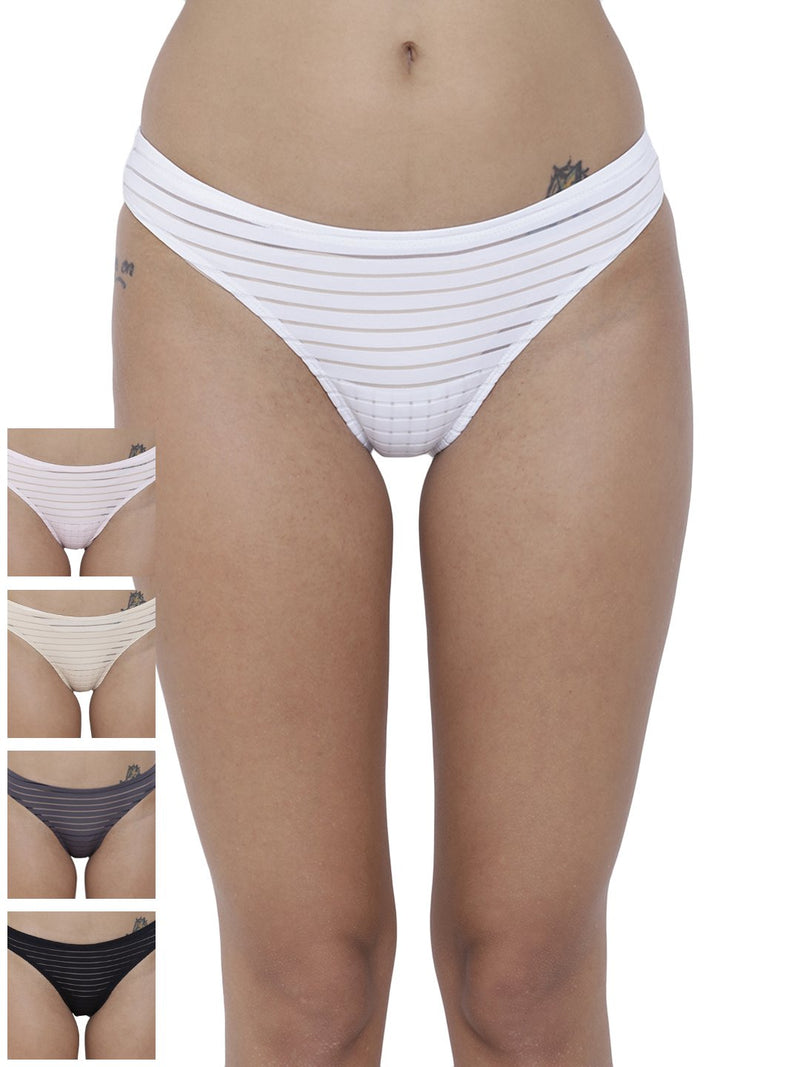 Travieso Naughty Briefs Panty (Combo Pack of 5)