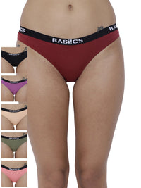 Dulce Candy Briefs Panty (Combo Pack of 6)