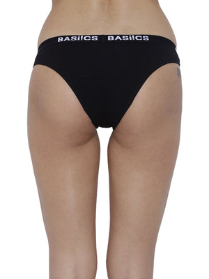 BASIICS Female Black Dulce Candy Brief Panty