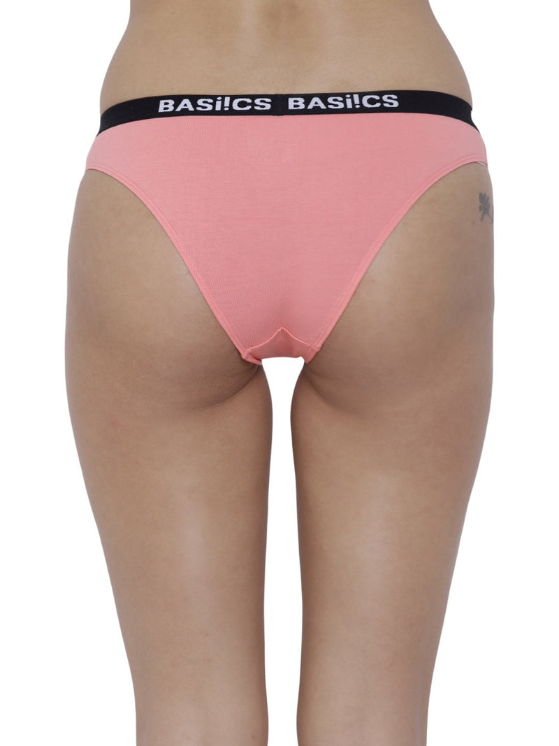 BASIICS Female Coral Dulce Candy Brief Panty