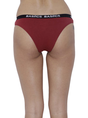 BASIICS Female Maroon Dulce Candy Brief Panty