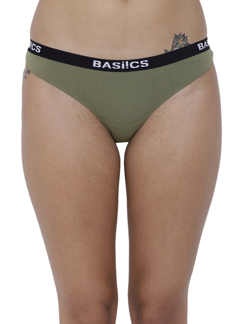 BASIICS Female Olive Dulce Candy Brief Panty