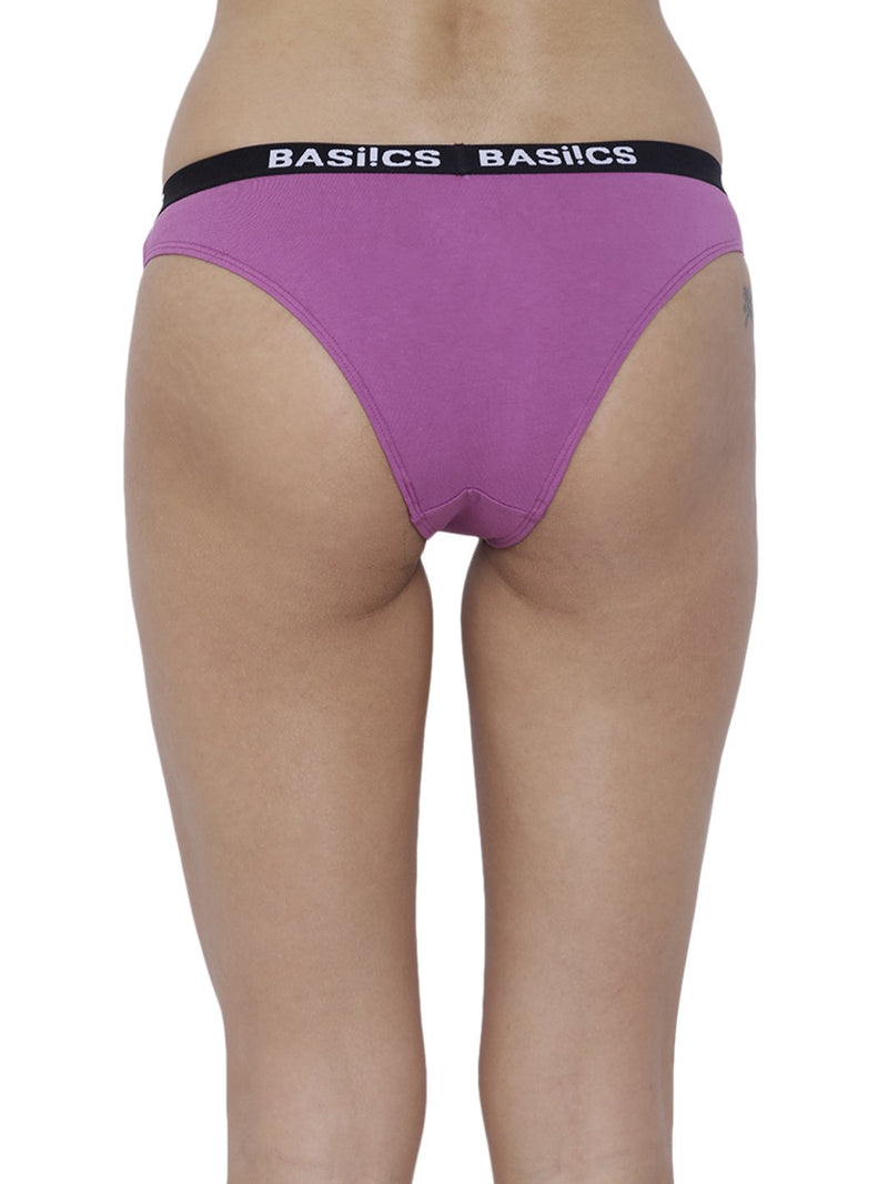 BASIICS Female Purple Dulce Candy Brief Panty