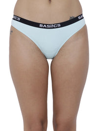 BASIICS Female Sea Green Dulce Candy Brief Panty
