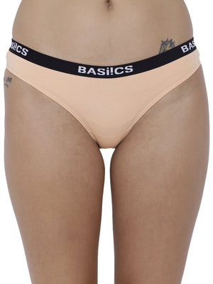 BASIICS Female White Dulce Candy Brief Panty