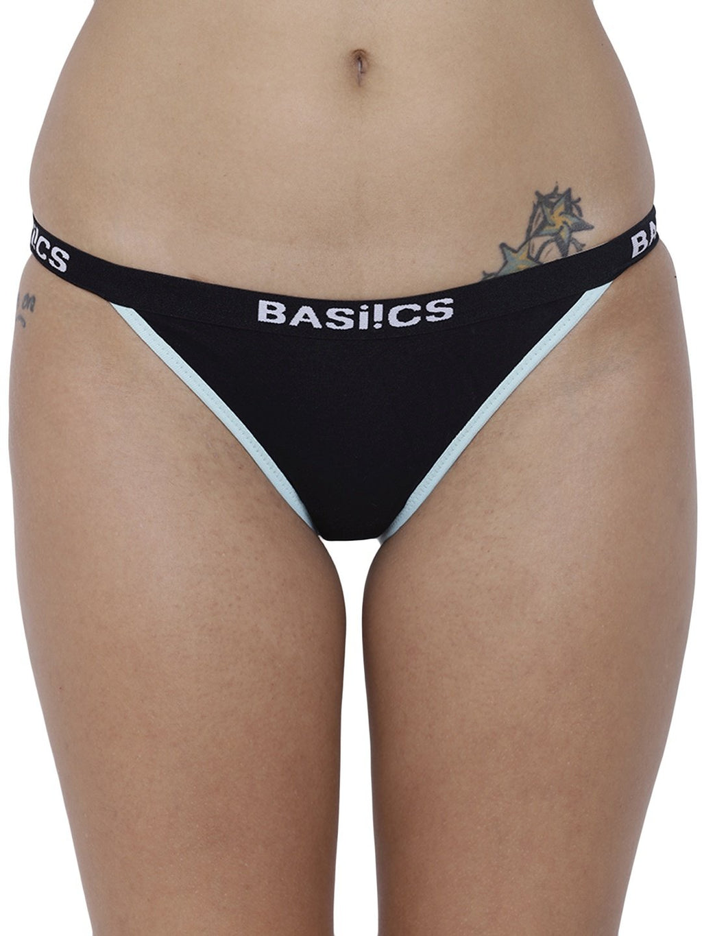 BASIICS Female Black Moda Fashionable Brief Panty