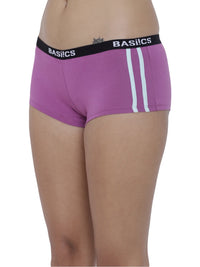 BASIICS Female Purple Alegria Joy Boyshort Panty