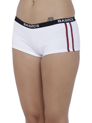 BASIICS Female White Alegria Joy Boyshort Panty