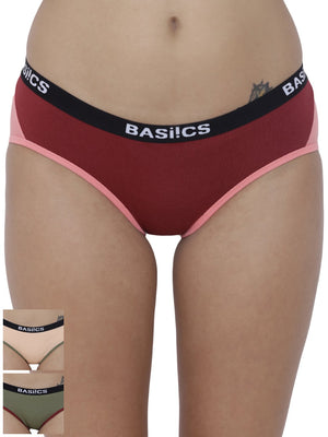 Picante Spicy Hipster Panty (Combo Pack of 3)