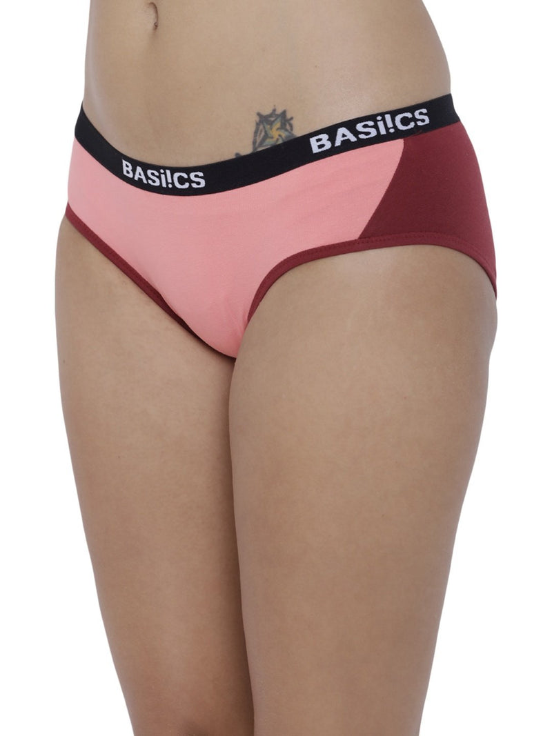BASIICS Female Coral Picante Spicy  Hipster Panty