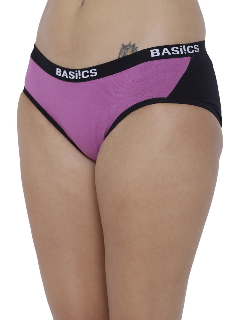 BASIICS Female Purple Picante Spicy  Hipster Panty