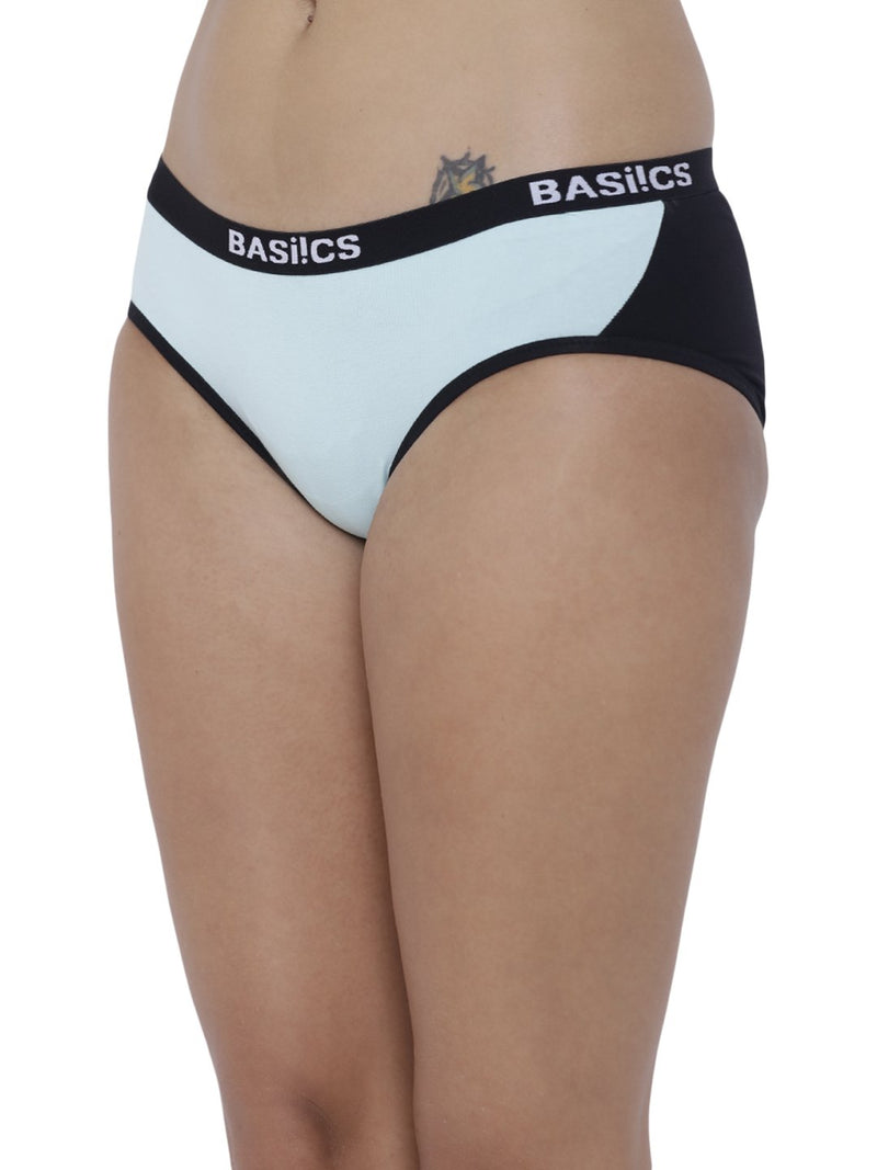 BASIICS Female Sea Green Picante Spicy  Hipster Panty
