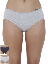 Coqueto Flirty Hipster Panty (Combo Pack of 3)