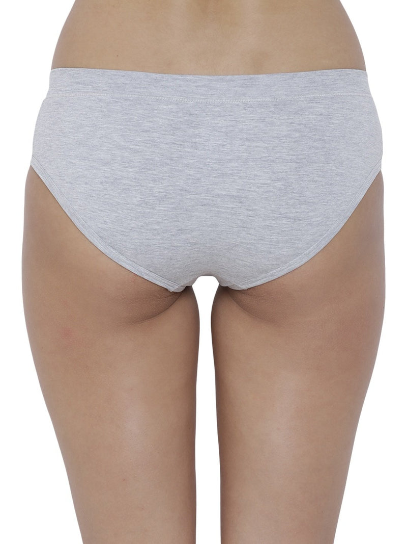 BASIICS Female Grey Melange Flirty Hipster Panty