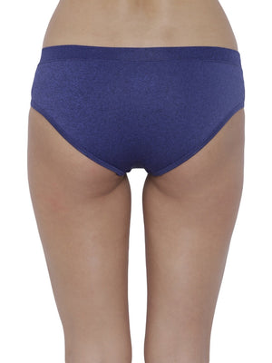 BASIICS Female R. Blue Black Melange Flirty Hipster Panty