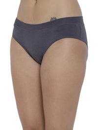 BASIICS Female Steel Grey Flirty Hipster Panty