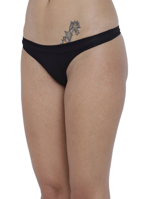 BASIICS Female Black piffy Semiseamless Panty