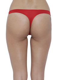 BASIICS Female Red piffy Semiseamless Panty