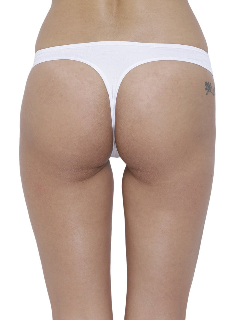 BASIICS Female White piffy Semiseamless Panty