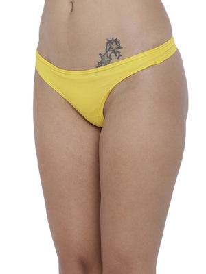 BASIICS Female Yellow piffy Semiseamless Panty