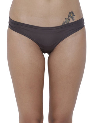 BASIICS Female Petrol Grey Amor Love Semiseamless Panty