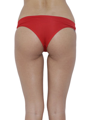 BASIICS Female Red Amor Love Semiseamless Panty