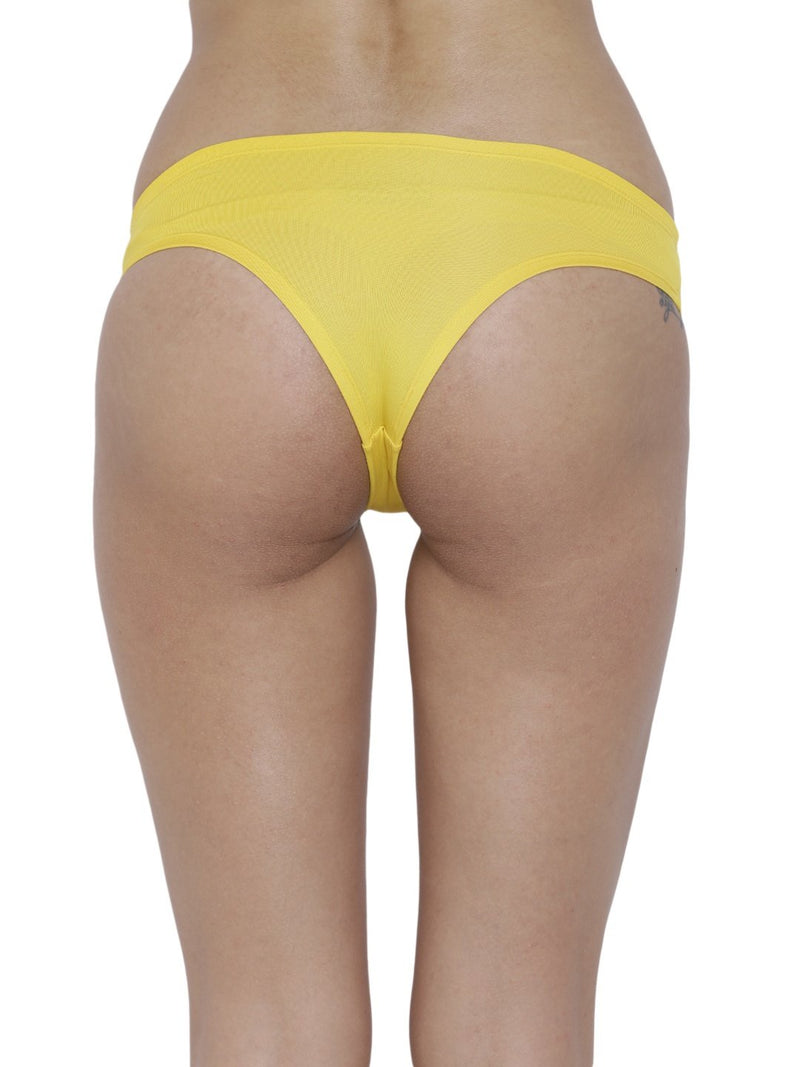 BASIICS Female Yellow Amor Love Semiseamless Panty