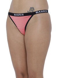 BASIICS Female Coral Caliente Hot Thong Panty