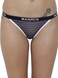BASIICS Female Petrol Grey Caliente Hot Thong Panty