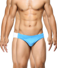 BASIICS Men Breathable Chic Cotton Spandex Briefs Pack of 2
