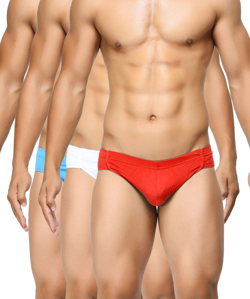 BASIICS Men Breathable Chic Cotton Spandex Briefs Pack of 3