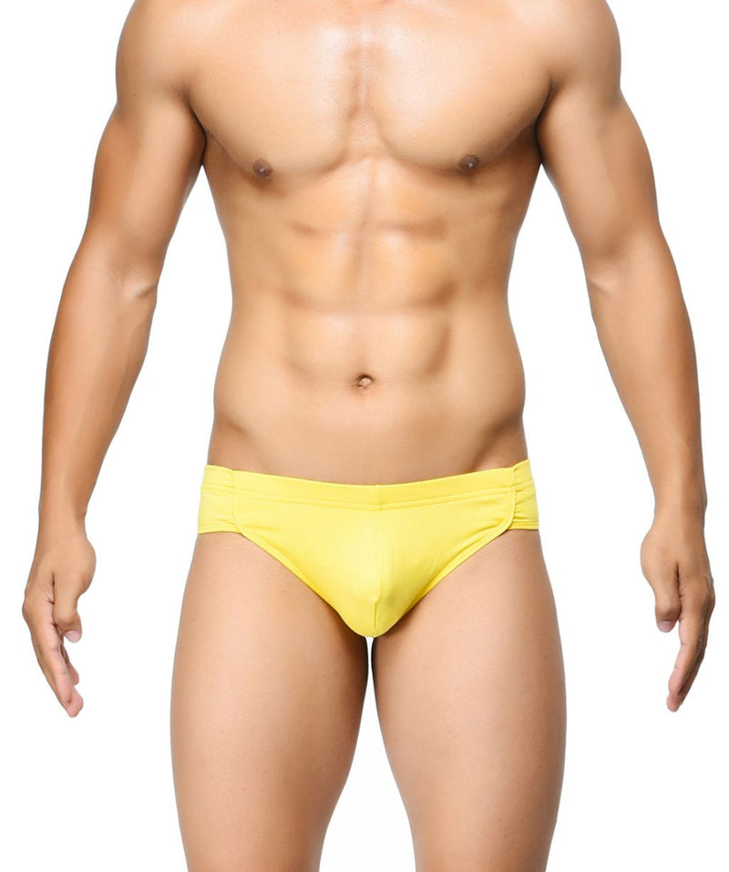 BASIICS Yellow Men Breathable Chic Cotton Spandex Briefs
