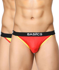 BASIICS Men Thigh High Cotton Spandex Briefs Pack of 2
