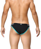 BASIICS Black Men Contoured Pouch Regular Cotton Spandex Briefs