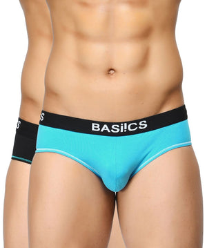 BASIICS Men Everyday Active Cotton Spandex Briefs Pack of 2