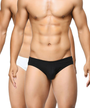 BASIICS Men Ultra Soft Classic Cotton Spandex Briefs Pack of 2
