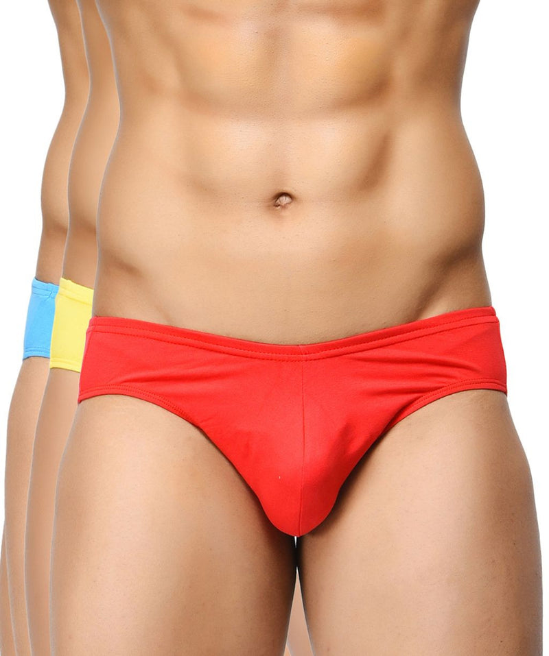 BASIICS Men Ultra Soft Classic Cotton Spandex Briefs Pack of 3