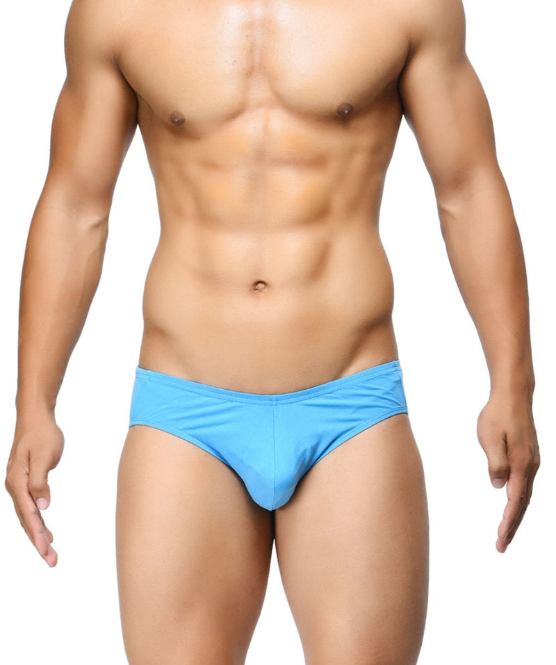 BASIICS Blue Men Ultra Soft Classic Cotton Spandex Briefs