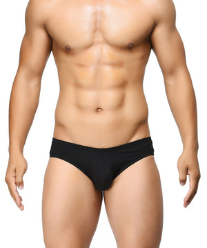 BASIICS Black Men Ultra Soft Classic Cotton Spandex Briefs