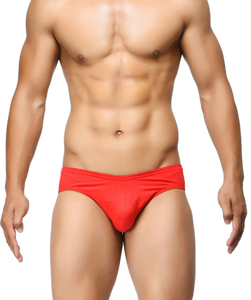 BASIICS Red Men Ultra Soft Classic Cotton Spandex Briefs