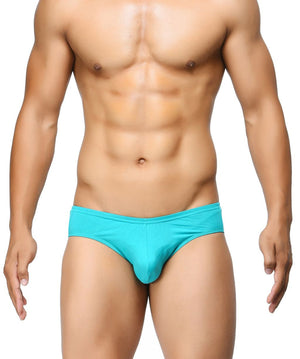 BASIICS Teal Men Ultra Soft Classic Cotton Spandex Briefs