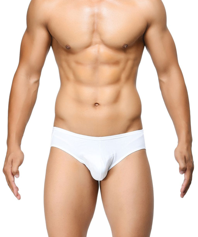 BASIICS White Men Ultra Soft Classic Cotton Spandex Briefs